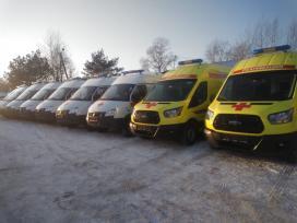 34 новых автомобиля скорой помощи